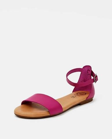 Tmavoružové sandále OJJU
