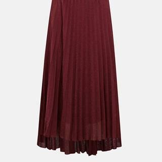 Vínová plisovaná midi sukňa ONLY Paradise