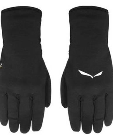 Čierne rukavice Salewa