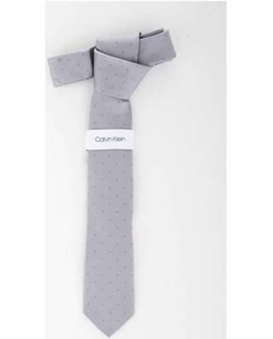 Strieborná kravata Calvin Klein Jeans