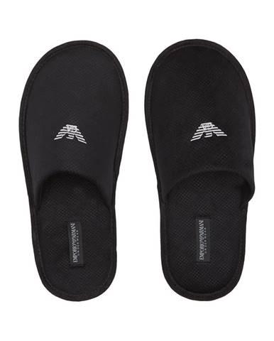 Čierne papuče Emporio Armani Underwear