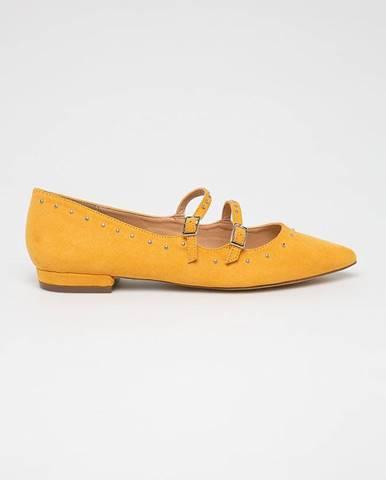 Žlté balerínky Answear