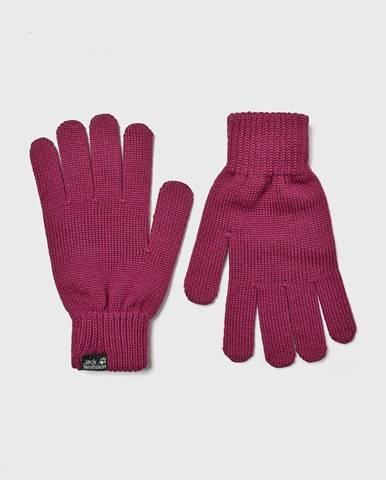 Ružové rukavice Jack Wolfskin