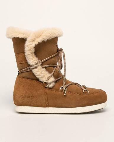 Hnedé zimná obuv Moon Boot