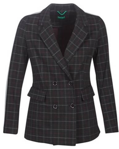 Čierny kabát Benetton