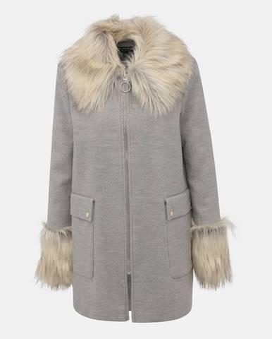 Sivý kabát Miss Selfridge