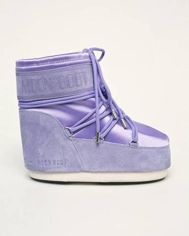 Fialové zimná obuv Moon Boot