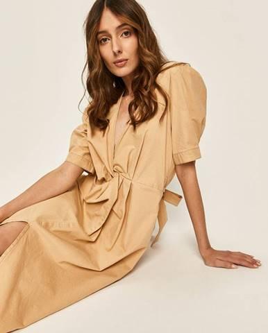 Béžové šaty Answear