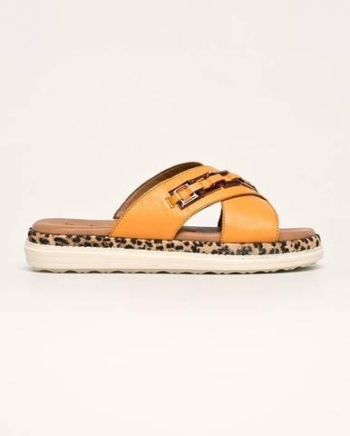 Oranžové sandále Tamaris