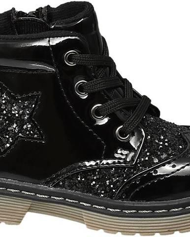 Čierne členková obuv Cupcake Couture