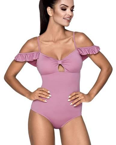 Ružové jednodielne plavky LORIN