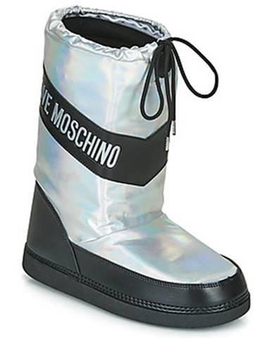 Strieborné topánky Love Moschino