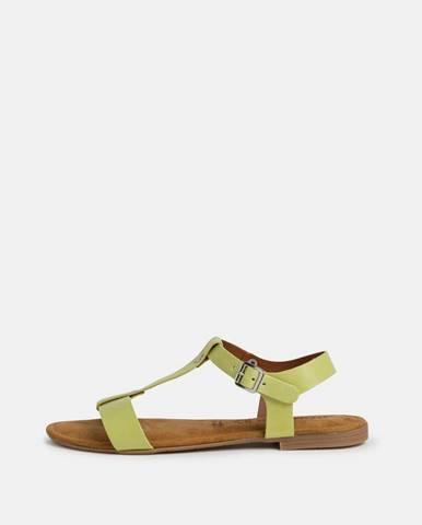 Zelené sandále Tamaris