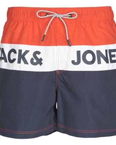 Červené plavky Jack   Jones