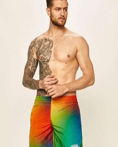 Viacfarebné plavky Guess Jeans