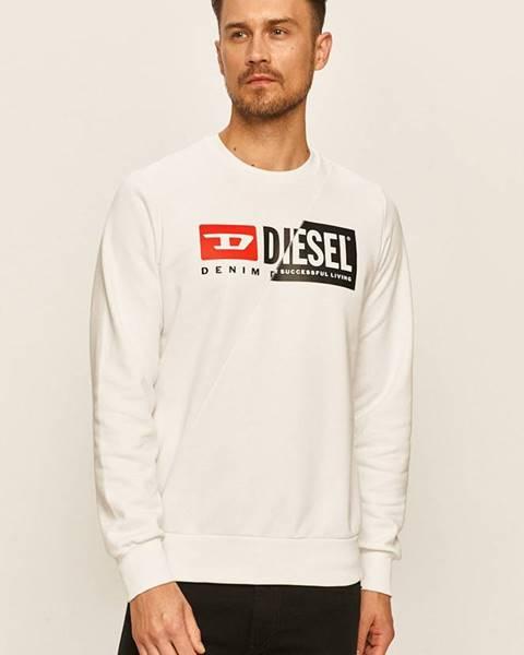 Biela bunda s potlačou Diesel