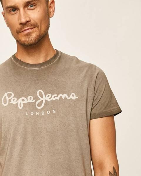 Sivé tričko Pepe jeans