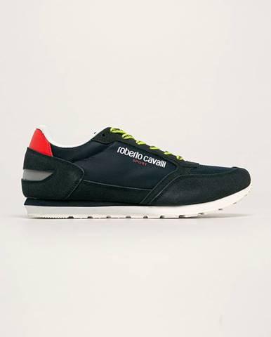 Tmavomodré topánky Roberto Cavalli Sport
