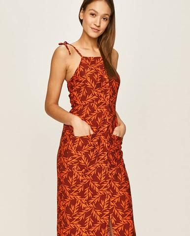 Oranžové šaty Glamorous