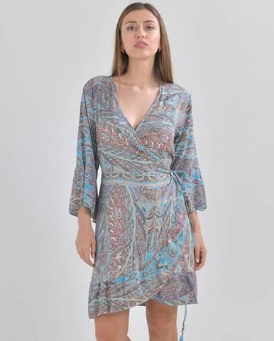 Modré šaty ble