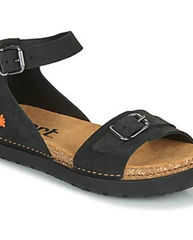 Čierne sandále Art